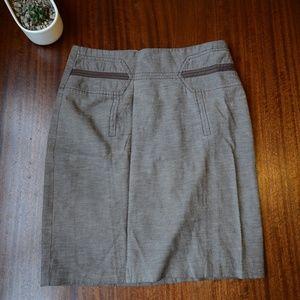 Neutral Pencil Skirt